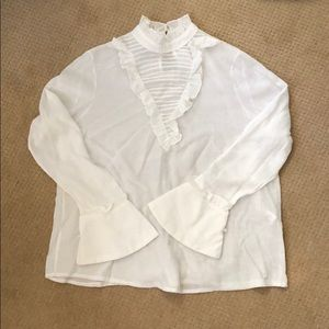 Tops - Free w/ purchase White bell sleeve blouse